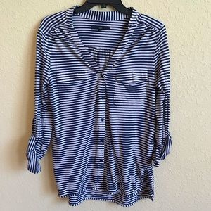 Tibi Striped Button-down Shirt